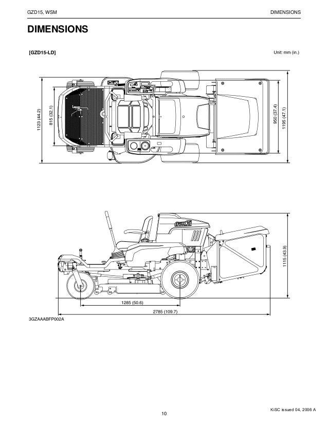 Kubota GZD15-HD Zero Turn Mower Service Repair Manual