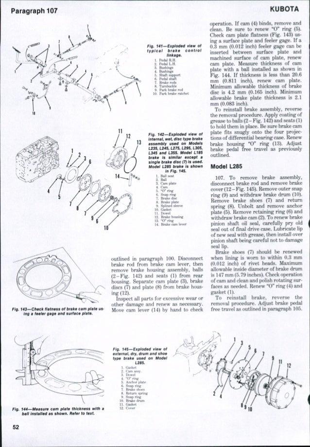 Kubota L295 Tractor Service Repair Manual
