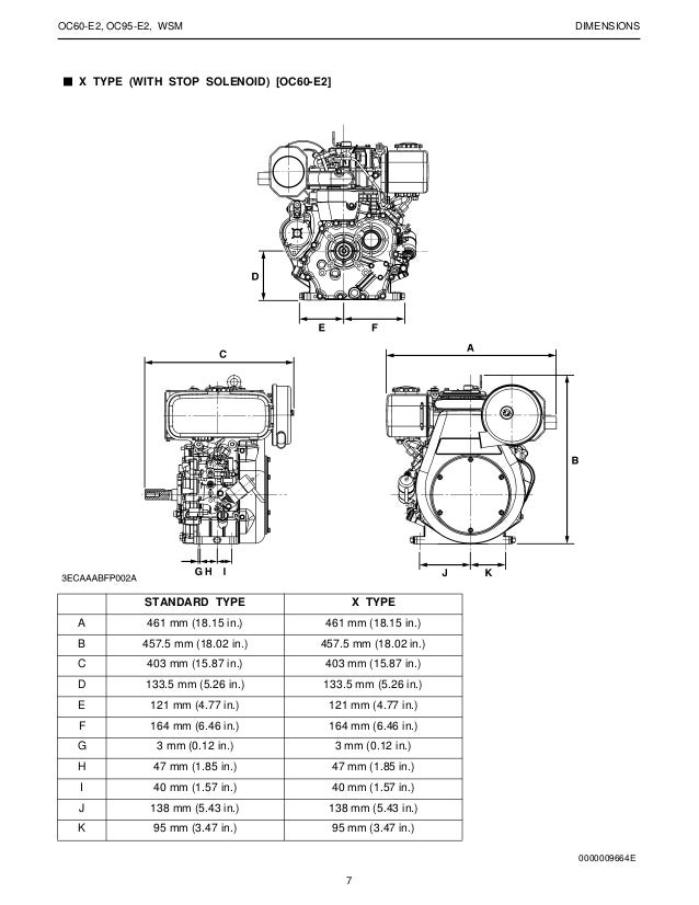 Kubota WSM Diesel Work Shop Manual# OC60-E2 /& OC95-E2