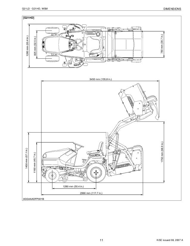 Kubota G21hd Tractor Mower Service Repair Manual