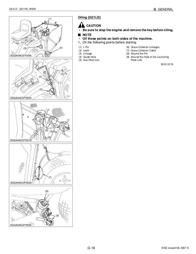 KUBOTA G21HD TRACTOR MOWER Service Repair Manual