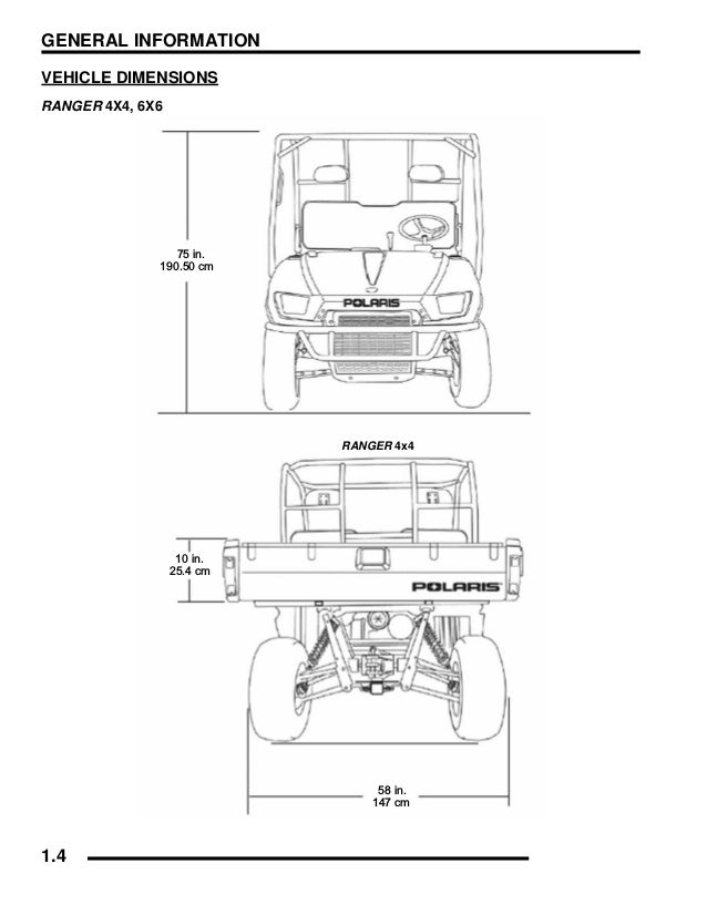 2006 Polaris Ranger 700 6x6 XP Service Repair Manual