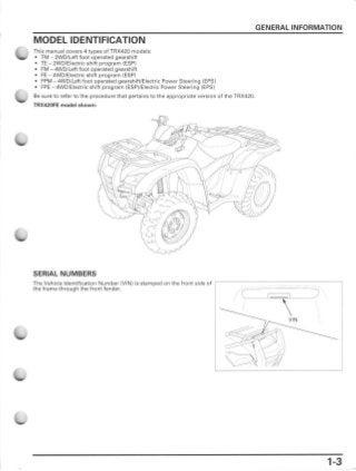 2010 Honda TRX420FPM FourTrax Rancher 4x4 w Power Steering