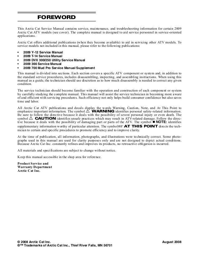 2009 arctic cat 700 h1 700h1 atv service repair manual on engine  diagrams, battery diagrams