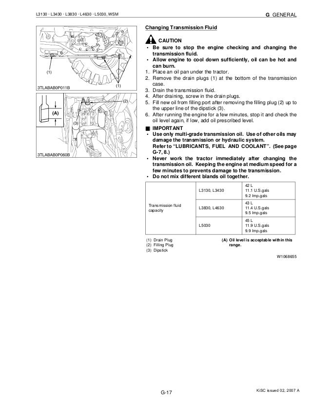 KUBOTA L3430 TRACTOR Service Repair Manual