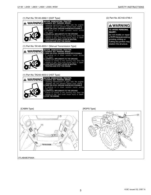 kubota l3430 tractor service repair manual rh slideshare net kubota l3430 operators manual kubota l3430 operators manual