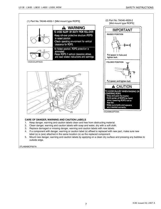 kubota l3430 tractor service repair manual rh slideshare net kubota l3430 operators manual Kubota L4610