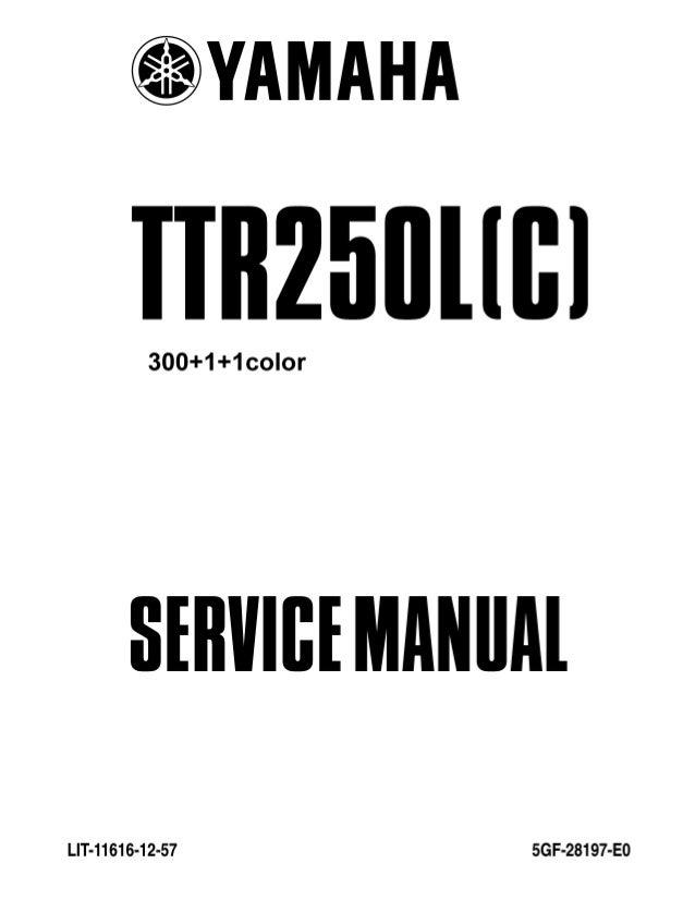 2006 Yamaha TT-R250V/VC Service Repair Manual