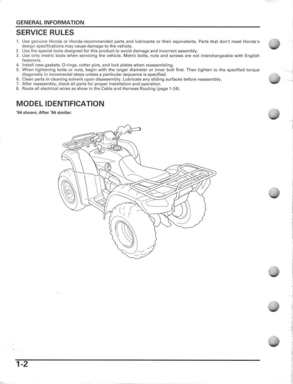 2004 Honda TRX400FGA FourTrax Rancher AT GPScape Service