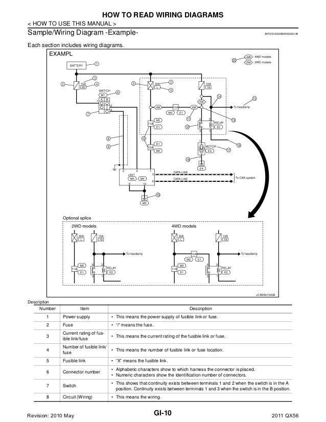 2011 infiniti qx56 service repair manual horn wiring diagram infiniti qx56 speaker wiring diagram #8