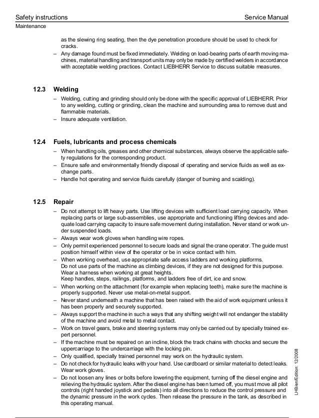 Liebherr A 944 C Litronic Hydraulic Excavator Service Repair Manual S