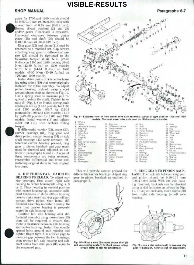 Ford 1510 Tractor Service Repair Manual