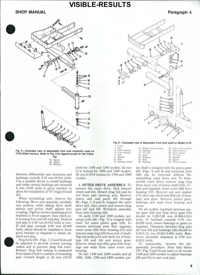 Ford 1510 Tractor Service Repair Manual. Renew Bushings If Clearance Visibleresults 8 Shop Manual. Ford. Ford 2000 Tractor Front Axle Diagram At Scoala.co