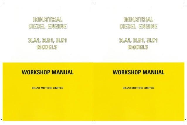 isuzu 3lb1 industrial diesel engine service repair manual rh slideshare net Isuzu Diesel Engines Isuzu 3LB1 Parts Diagram