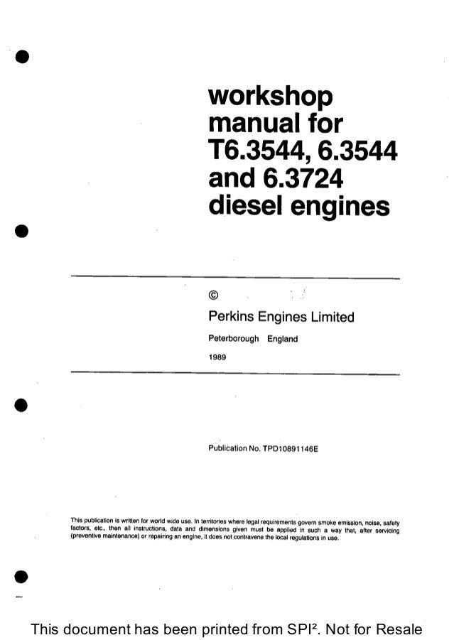 PERKINS 6 3544 DIESEL ENGINE Service Repair Manual