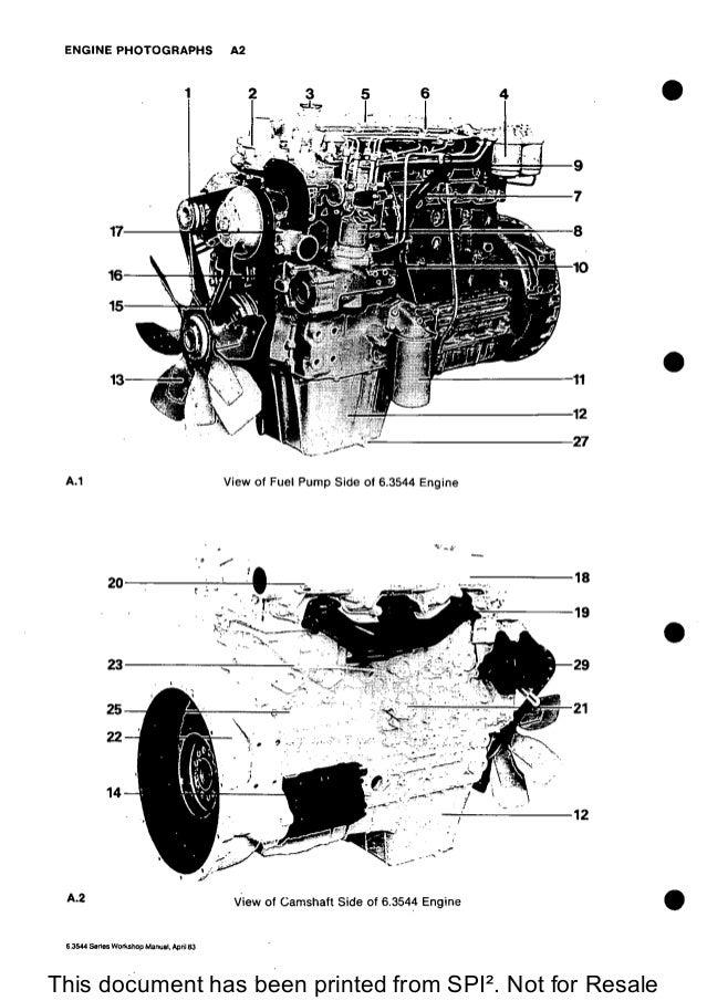 PERKINS 6.3544 DIESEL ENGINE Service Repair Manual