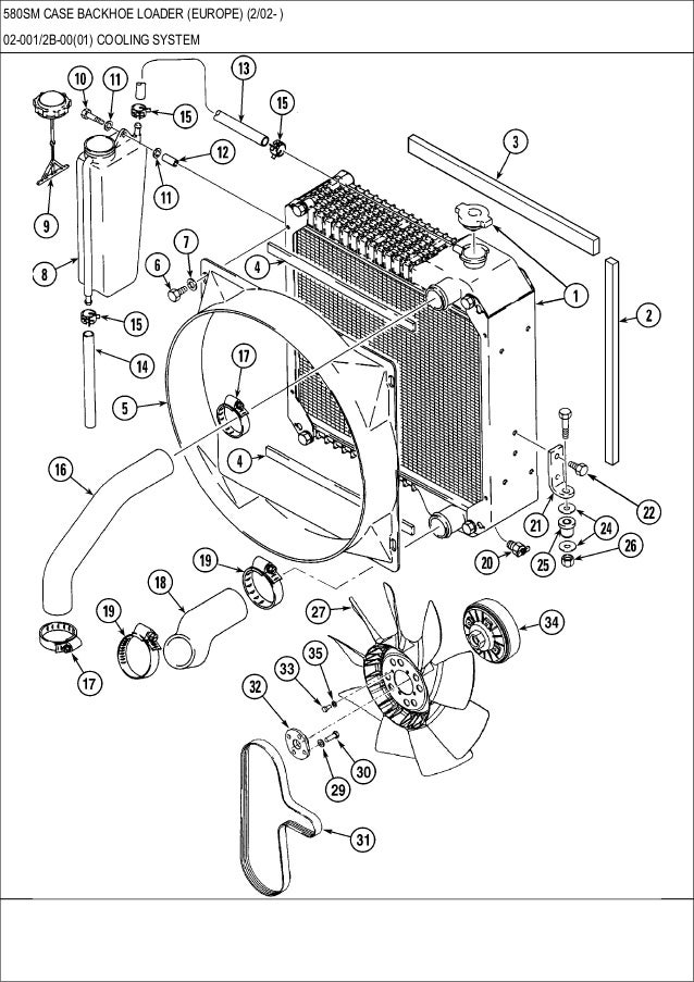 Case 580SM Backhoe Loader Parts Catalogue Manual