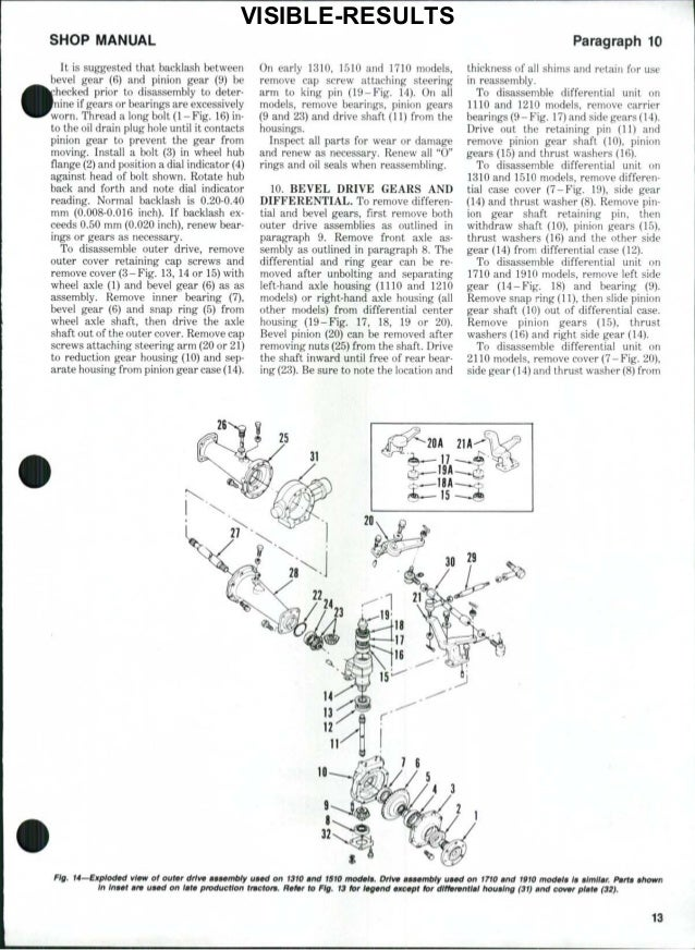 ford 2110 tractor service repair manual  ford 1710 parts diagram #10