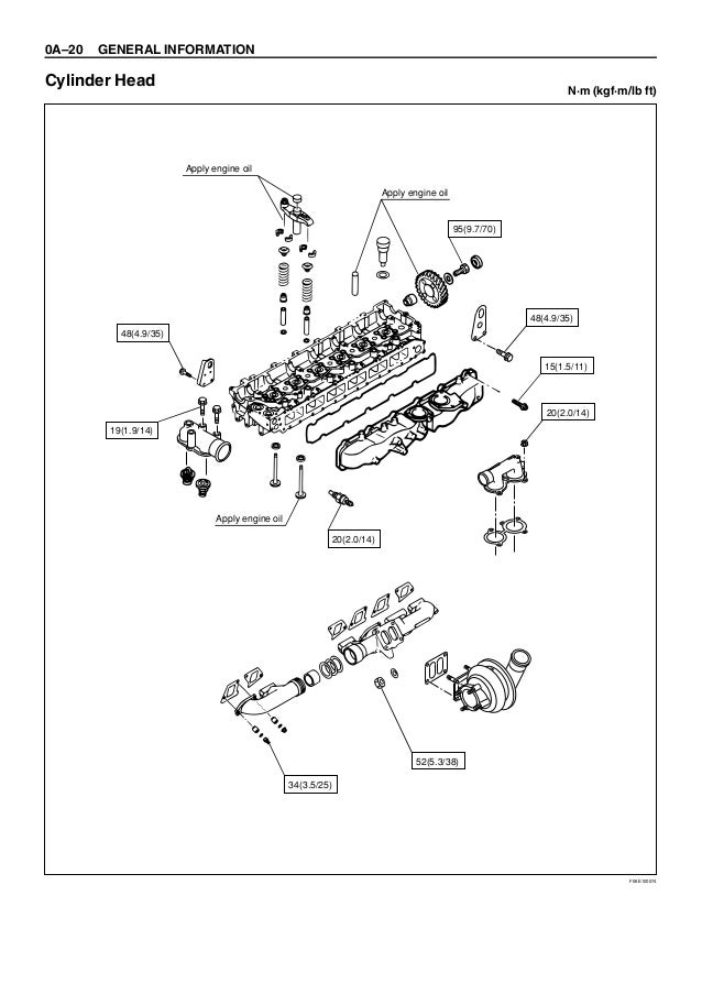 HITACHI 6HK1 TIER 2 ENGINE Service Repair Manual