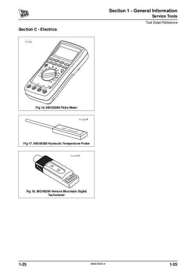 JCB 8014 MINI EXCAVATOR Service Repair Manual SN:1156000
