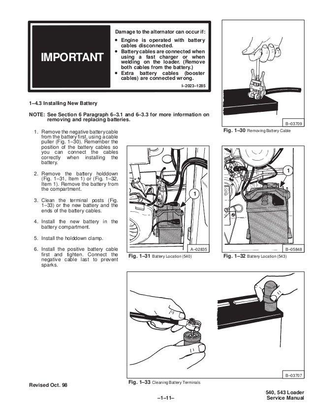 BOBCAT 540 SKID STEER LOADER Service Repair Manual S/N