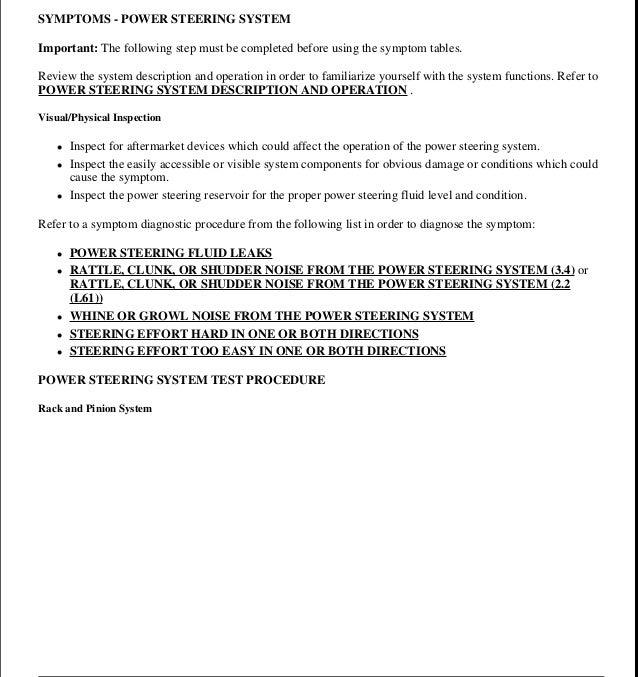 1999 Oldsmobile Alero Service Repair Manual