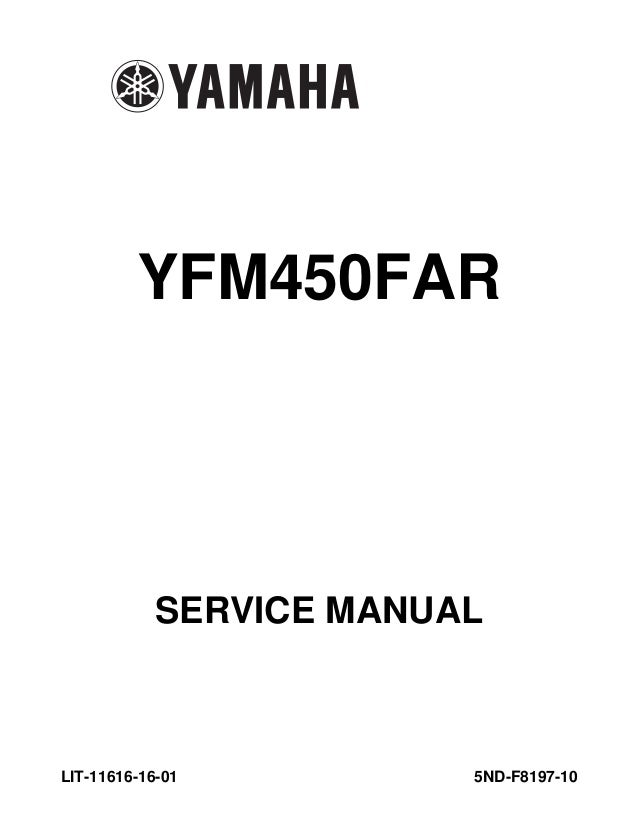 2003 Yamaha YFM450FAR Kodiak 450 4x4 Ultramatic Service