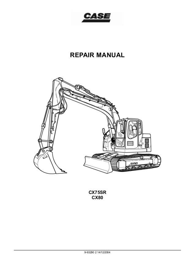 CASE CX80 CRAWLER EXCAVATOR Service Repair Manual