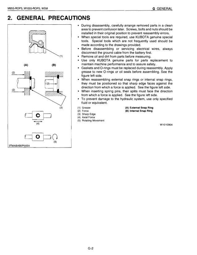 kubota m105s tractor service repair manual rh slideshare net Kubota RTV 900 Wiring Diagram Kubota Alternator Wiring