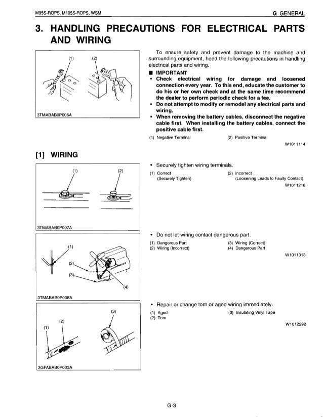 kubota m105s tractor service repair manual rh slideshare net Kubota RTV 900 Wiring Diagram Kubota Service Manual Wiring Diagram