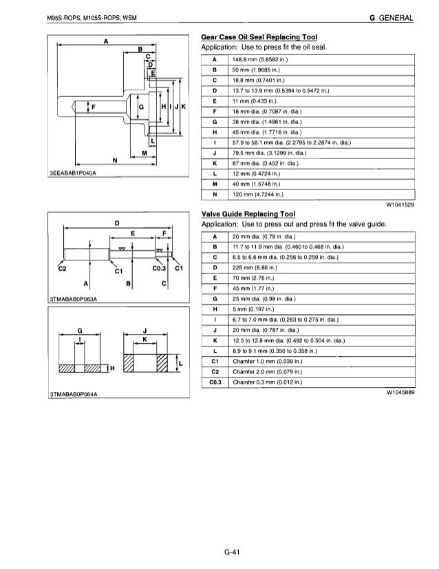 Kubota M105S Tractor Service Repair Manual
