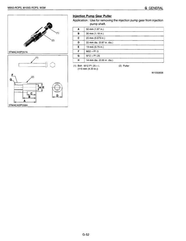 kubota m105s tractor service repair manual rh slideshare net Kubota Ignition Switch Wiring Diagram Kubota RTV Wiring Schematics