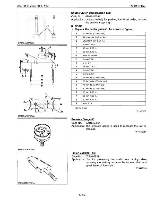 kubota m105s tractor service repair manual rh slideshare net