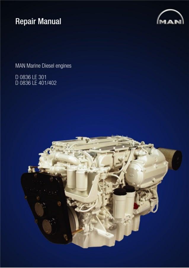 Man Marine Diesel Engine D0836 Le401 Service Repair Manual