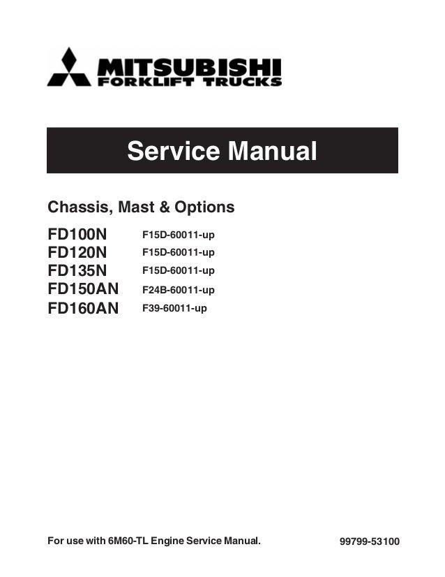 mitsubishi fd120n forklift trucks service repair manual sn f15d 60011 rh slideshare net Mitsubishi Eclipse Spyder 2005 Mitsubishi Lancer Manual PDF