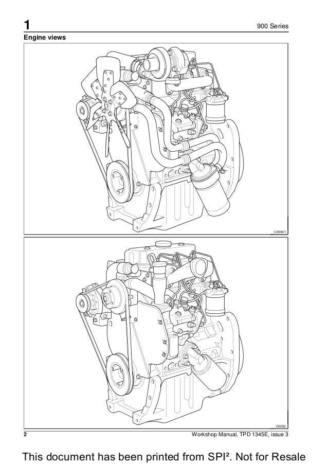 PERKINS 900 SERIES CR 3 CYLINDER DIESEL ENGINE Service