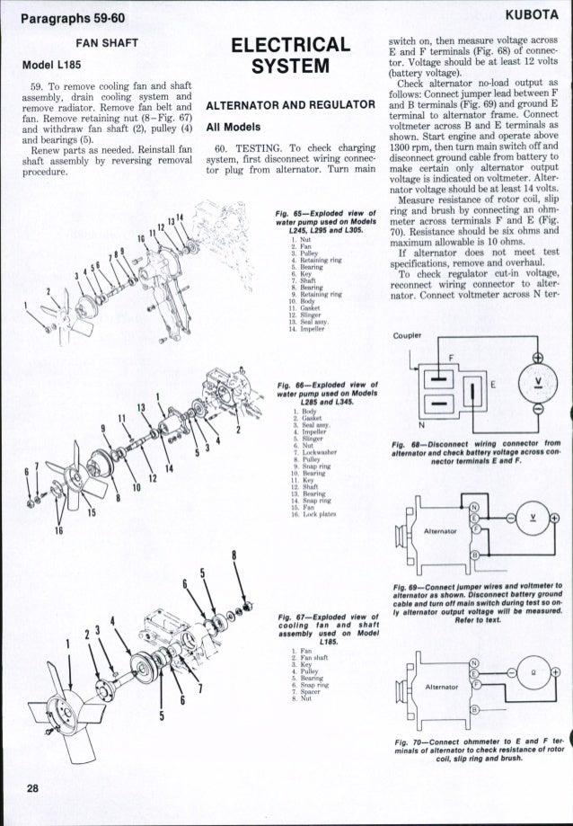 Kubota L285 Tractor Service Repair Manual
