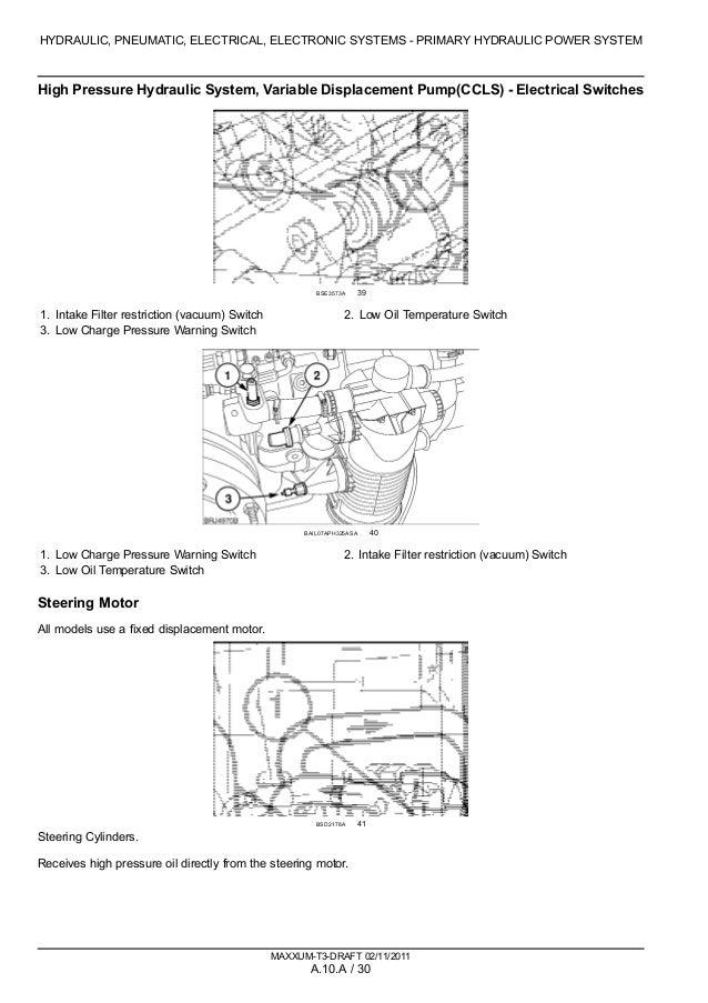 CASE IH MAXXUM 140 Multicontroller TRACTOR Service Repair