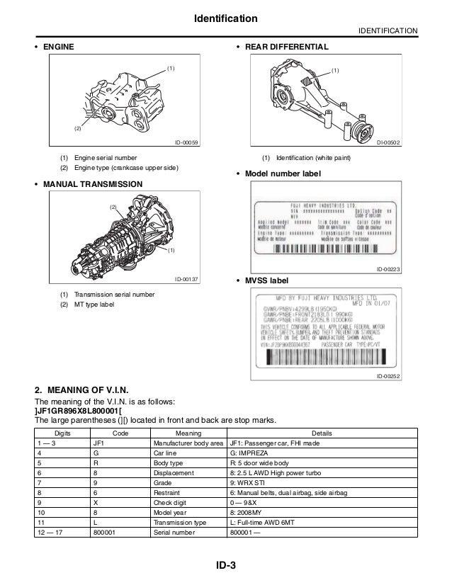 2008 Subaru Impreza Service Repair Manual