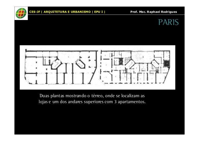 CES-JF   ARQUITETURA E URBANISMO   EPU I   Prof. Msc. Raphael Rodrigues  Duas plantas mostrando o térreo, onde se localiza...