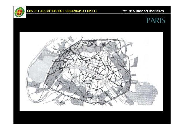 CES-JF   ARQUITETURA E URBANISMO   EPU I   Prof. Msc. Raphael Rodrigues  PARIS