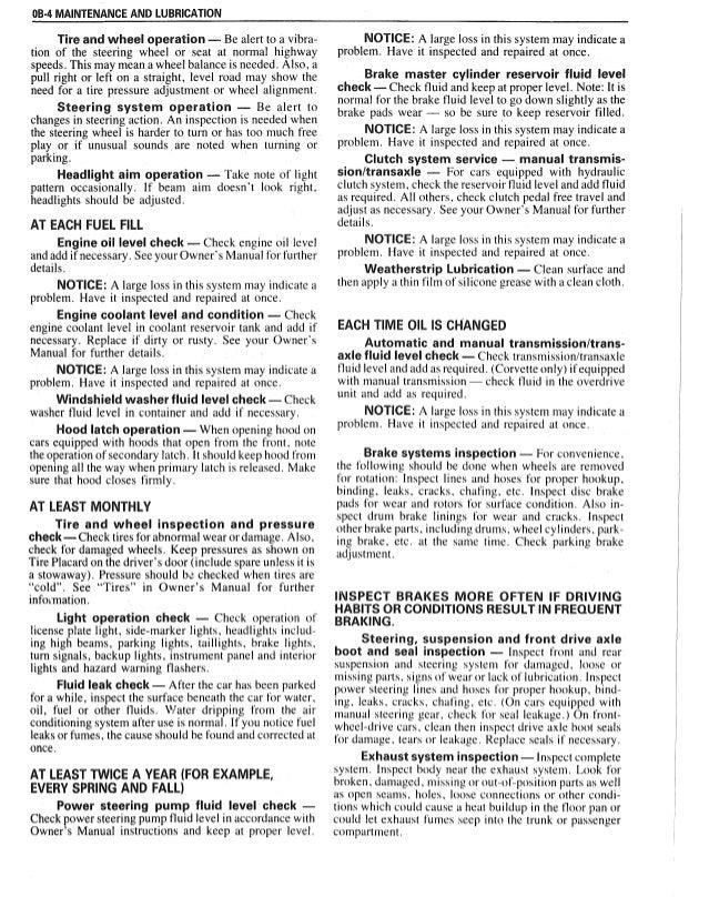 1986 Lesharo Owner manual