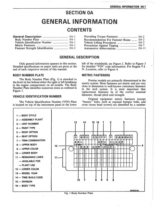 1986 PONTIAC FIREBIRD Service Repair Manual
