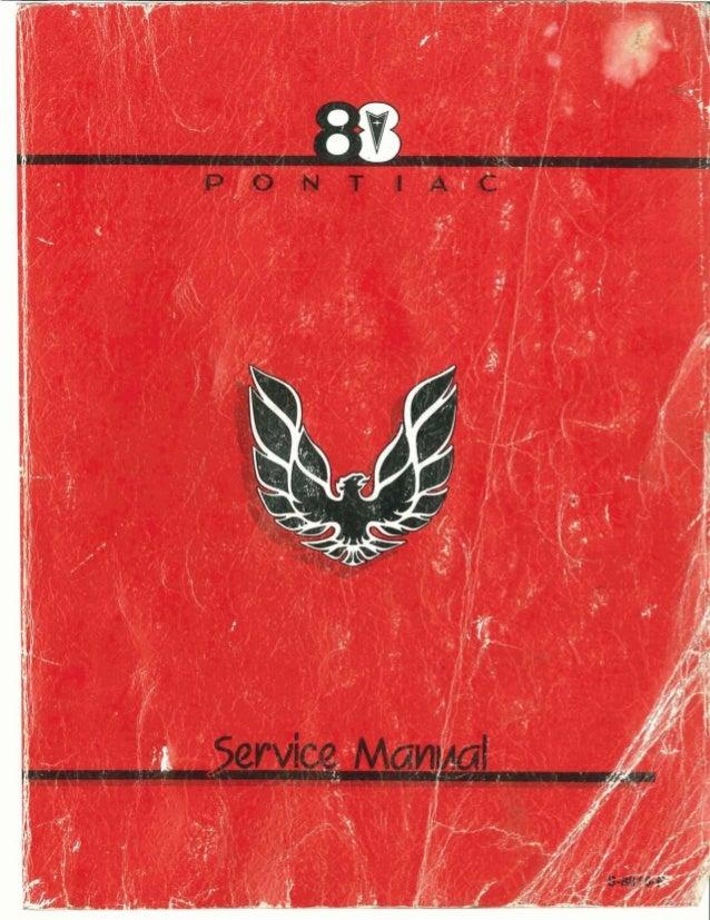 1983 pontiac firebird service repair manual  slideshare