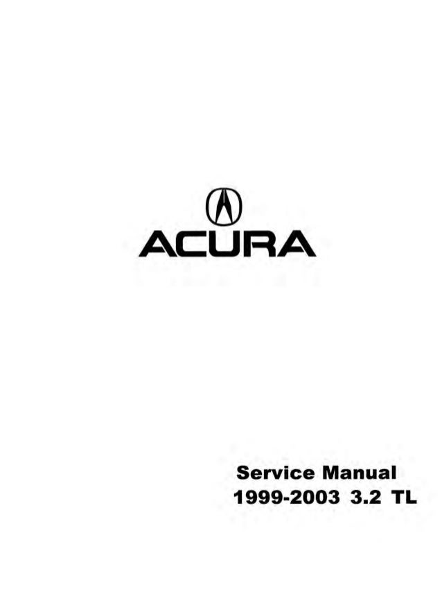 1999 acura tl service repair manual rh slideshare net 1999 Acura CL 1998 Acura TL