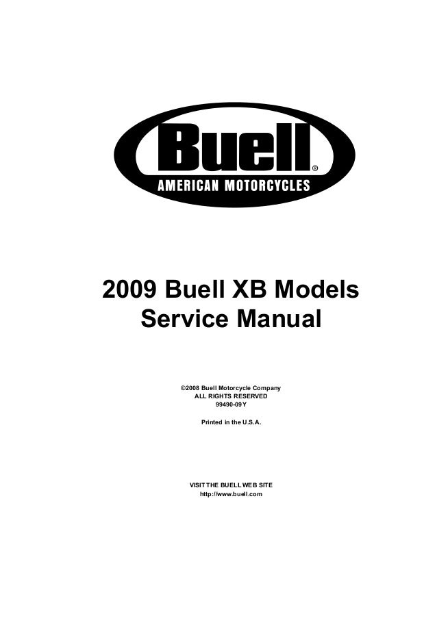 2009 Buell Lightning XB12Ss Service Repair Manual