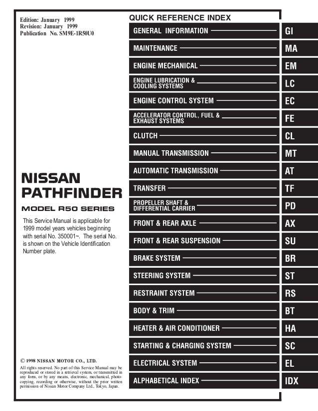 1999 Nissan Pathfinder Wiring Schematic - Block And Schematic Diagrams •
