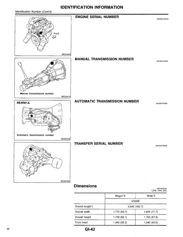 1999 NISSAN PATHFINDER Service Repair Manual