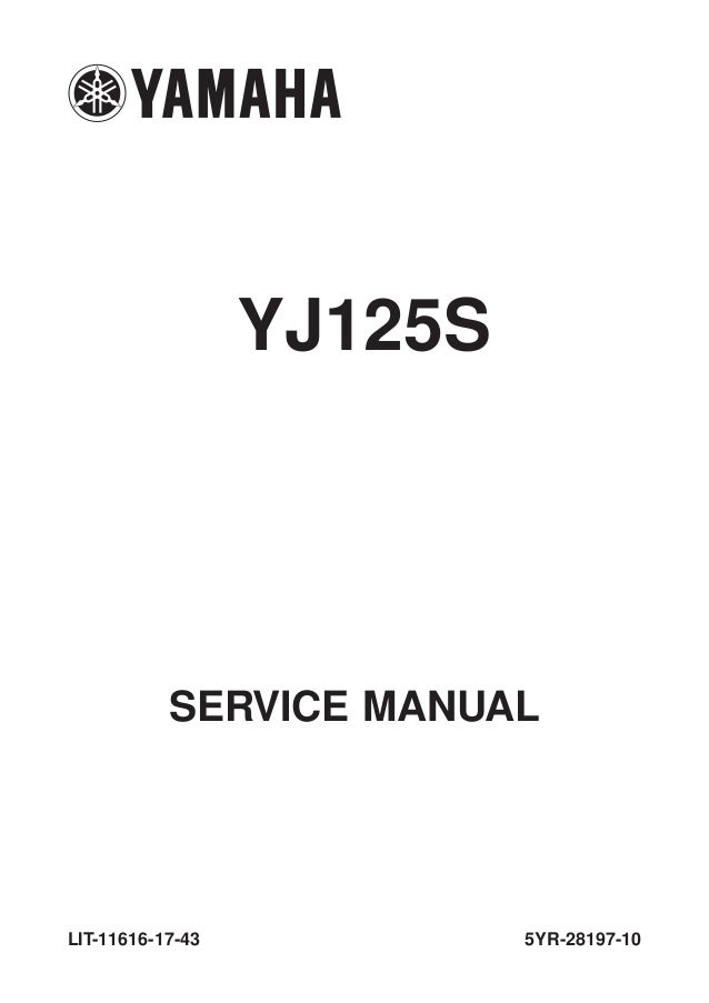 2005 Yamaha YJ125 Service Repair Manual