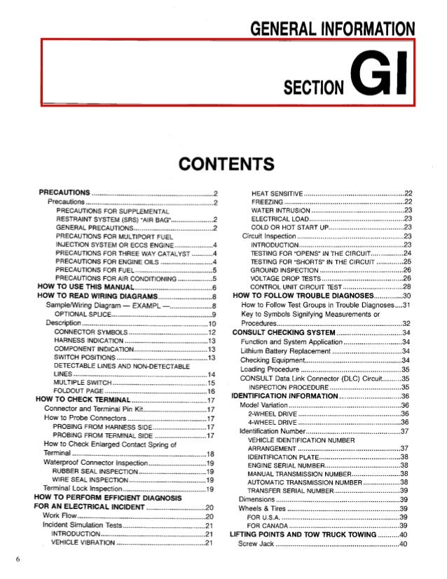 1998 NISSAN PATHFINDER Service Repair Manual